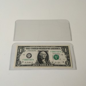 Crystal Clear Currency Bill Collector Sleeves